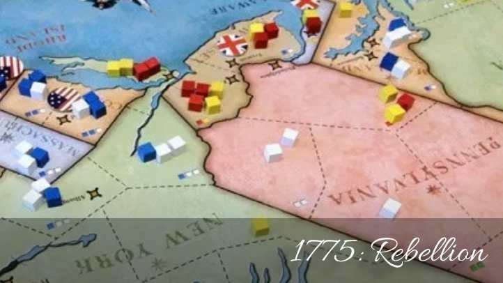 1775: Rebellion (2013) — the best civil war historical board game